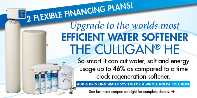 Culligan HE Softener Financing