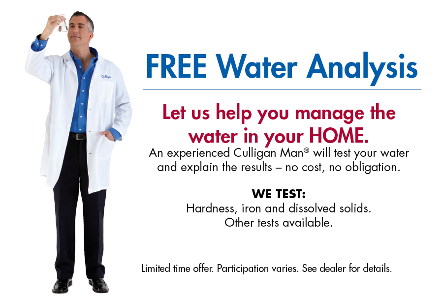Free Professional In Home Water Analysis Culligan Buffalo